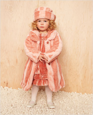 The Le Top Twinkle Rose Faux Fur Coat is super soft! It comes with a  matching hat that is perfect for keeping little ears warm. b7a7b0eae